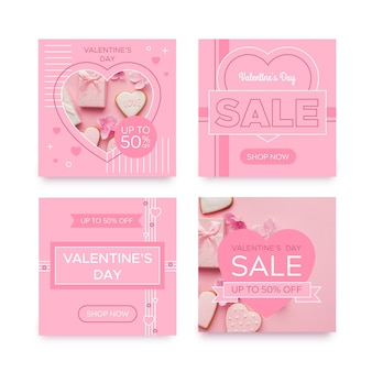 Postagem do instagram de venda do dia dos namorados Vetor grátis