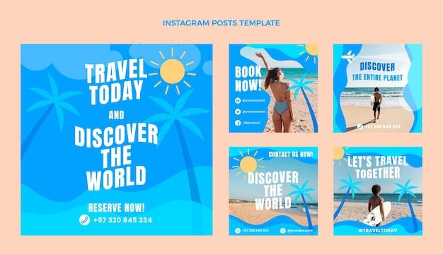 Postagem do instagram de viagens planas