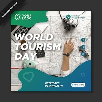Postagem do instagram do dia mundial do turismo elegante