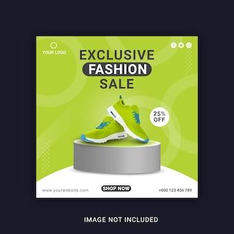 Postagem em banner social no instagram para venda de moda exclusiva