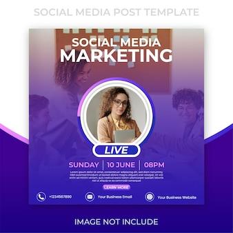 Postagem em mídia social de marketing instagram