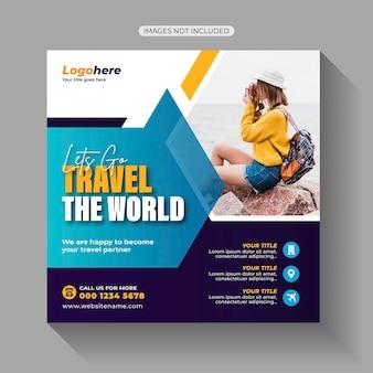 Postagem em mídia social de turismo de turismo
