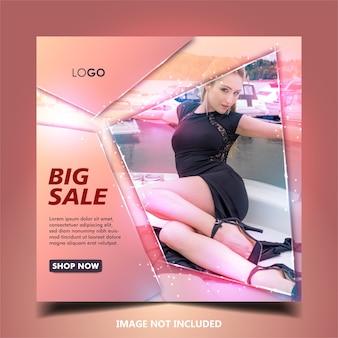 Postagem em mídia social de venda ou modelo de banner