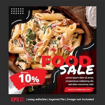 Postagem em mídia social para promoção de alimentos
