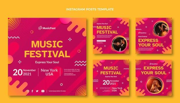 Postagem ig do festival de música gradiente em meio-tom