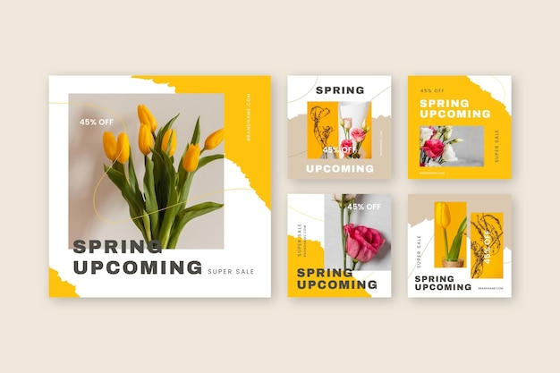 Postagem instagram de venda de primavera