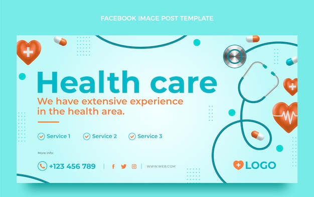 Postagem médica realista no facebook