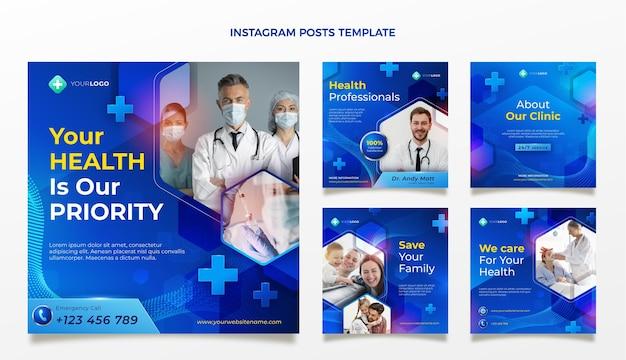 Postagem médica realista no instagram