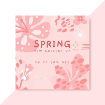 Postagem monocromática de primavera no facebook