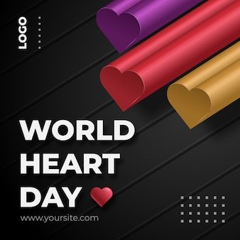 Postagem nas redes sociais do dia mundial do coração