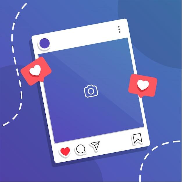 Postagem nas redes sociais