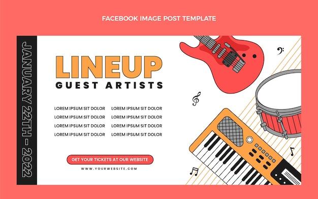 Postagem no facebook do flat minimal music festival