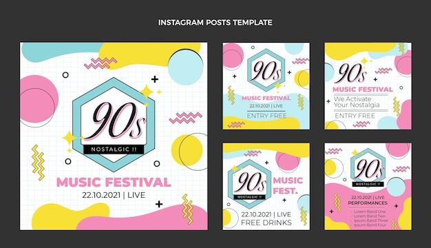 Postagem no instagram do festival de música nostálgica dos anos 90