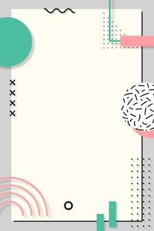Postagem pastel de memphis no pinterest