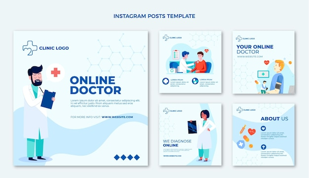 Postagem plana de instagram médica