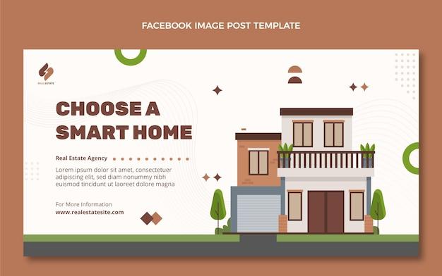 Postagem plana geométrica de imóveis no facebook