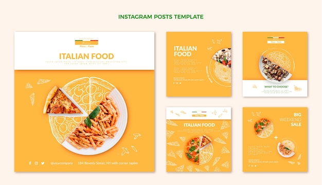 Postagem realista de comida no instagram
