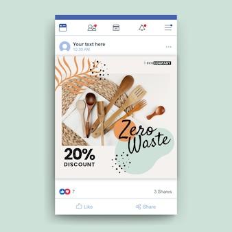 Postagem zero desperdício do facebook