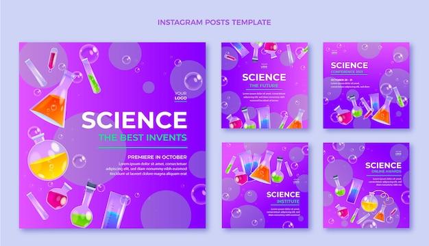 Postagens de instagram de ciência realista