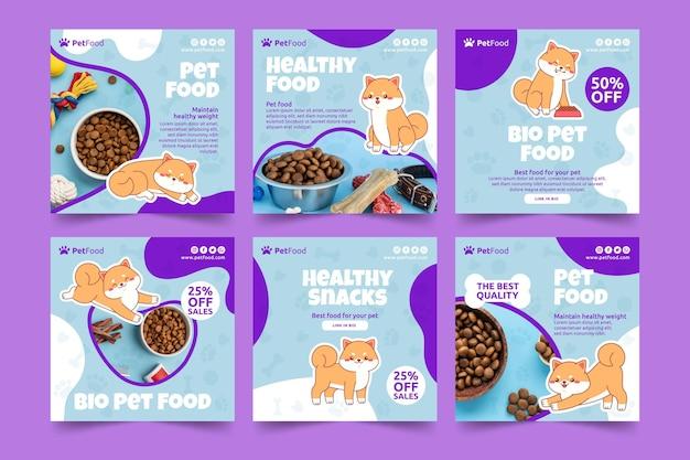 Postagens de instagram de comida animal