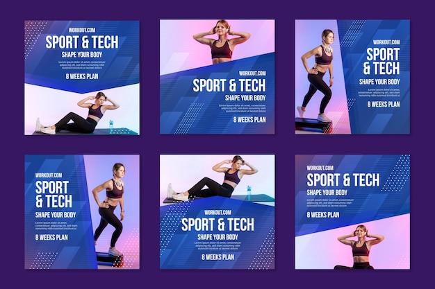 Postagens de instagram de esporte e tecnologia