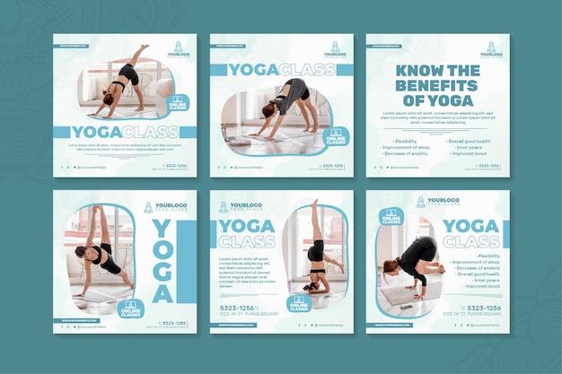 Postagens de instagram de ioga