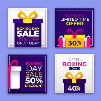 Postagens de instagram de venda de evento de boxing day