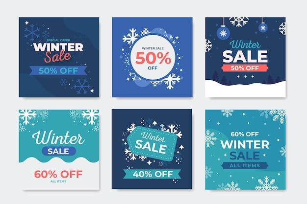 Postagens de instagram de venda de inverno