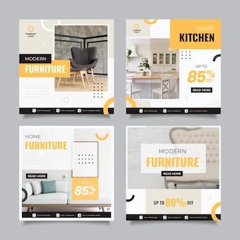 Postagens de instagram de venda de móveis planos