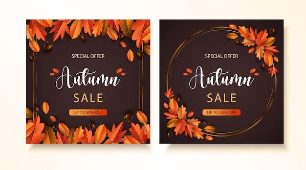 Postagens de luxo em mídias sociais de outono