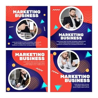 Postagens de marketing de negócios no instagram