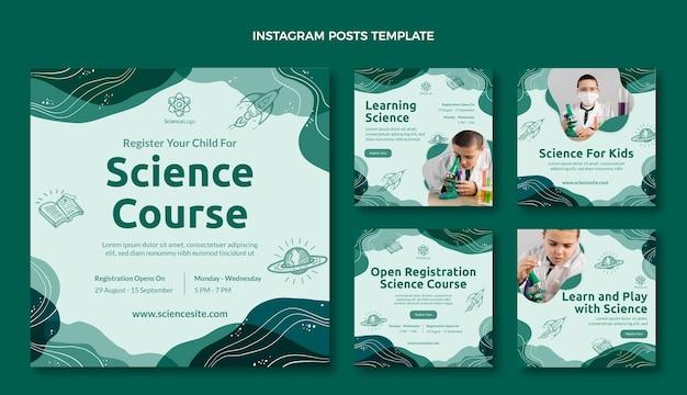 Postagens de mídia social de ciência plana