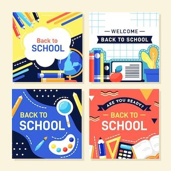 Postagens do instagram de acessórios de volta às aulas