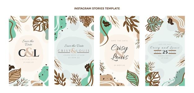 Postagens do instagram de casamento desenhadas à mão