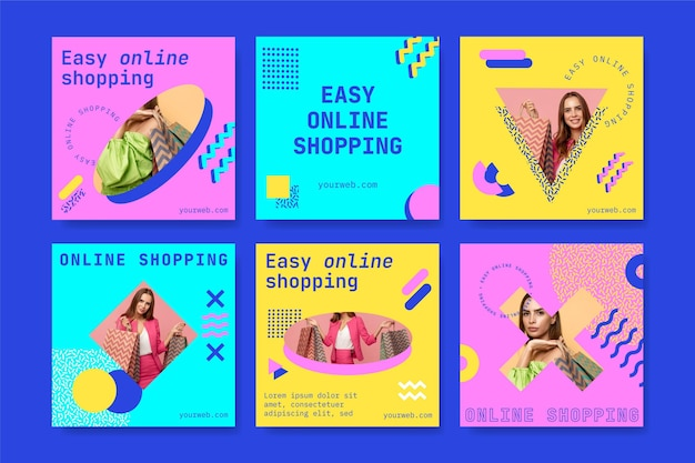 Postagens do instagram de compras online