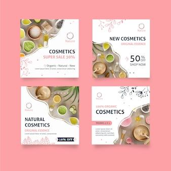 Postagens do instagram de cosméticos naturais da essência original