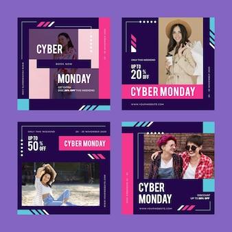Postagens do instagram de cyber monday