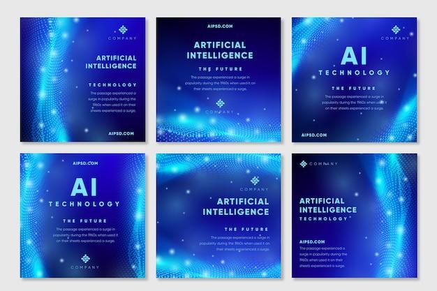 Postagens do instagram de inteligência artificial