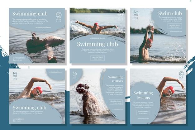 Postagens do instagram de natação