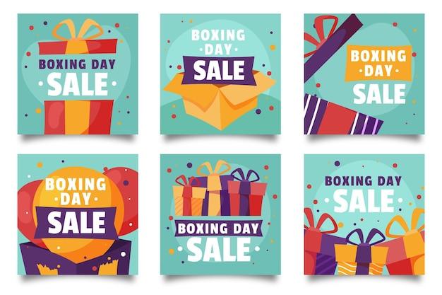 Postagens do instagram de promoções de boxing day