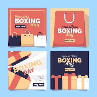 Postagens do instagram de promoções de boxing