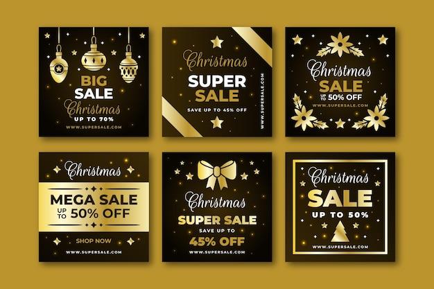 Postagens do instagram de promoções de natal