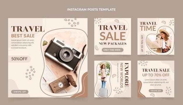Postagens do instagram de viagens planas