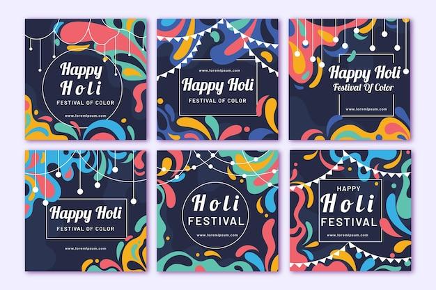 Postagens do instagram do holi festival