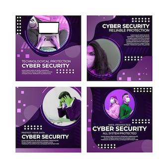 Postagens do instagram sobre segurança cibernética