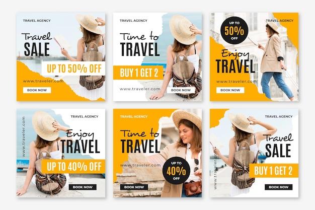 Postagens do instagram sobre venda de viagens