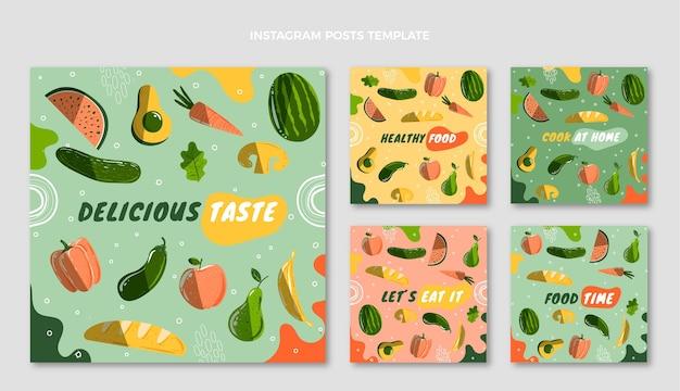 Postagens ig de comida desenhadas à mão