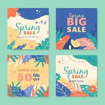 Postagens instagram de promoções de primavera