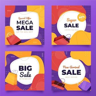 Postagens instagram de venda plana