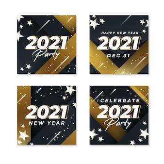 Postagens no instagram da festa de ano novo de 2021
